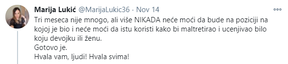 Tvit Marije Lukić